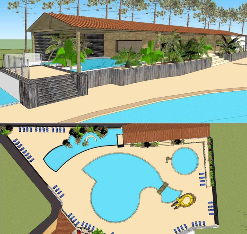 Projet extension complexe piscines 2016 camping saint for Complexe piscine